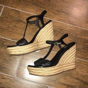 Ugg black wedge espadrille sandals